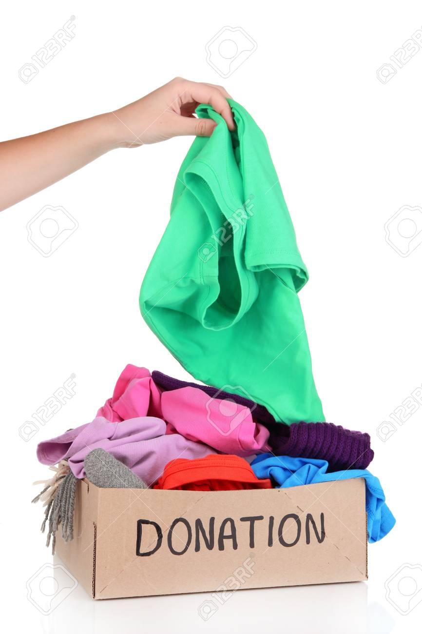 Donation box isolated on white Stock Photo - 20848358