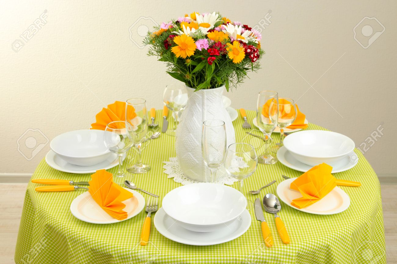 Table Setting For Breakfast Beautiful Table Setting For Breakfast Stock Photo Picture And