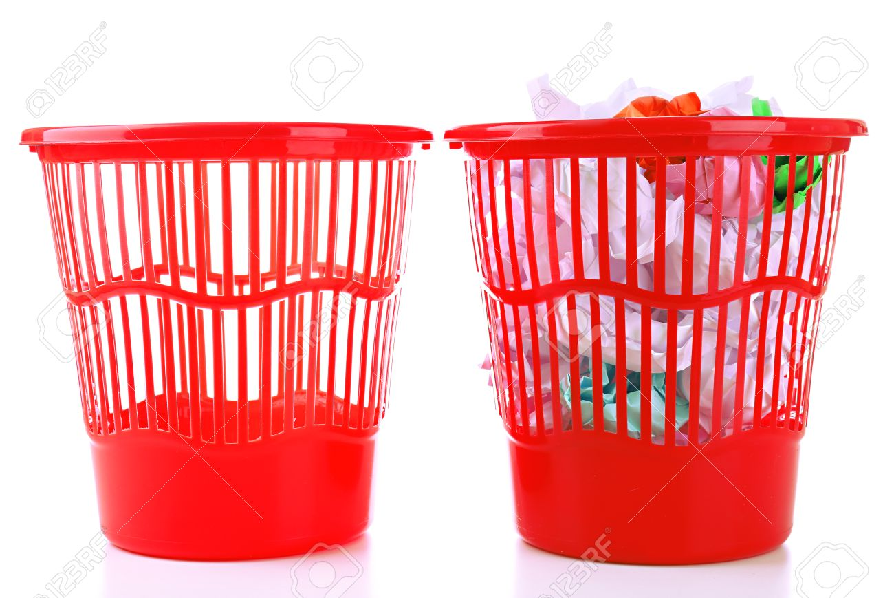 Worksheet Full And Empty full and empty garbage bins isolated on white stock photo 23944112