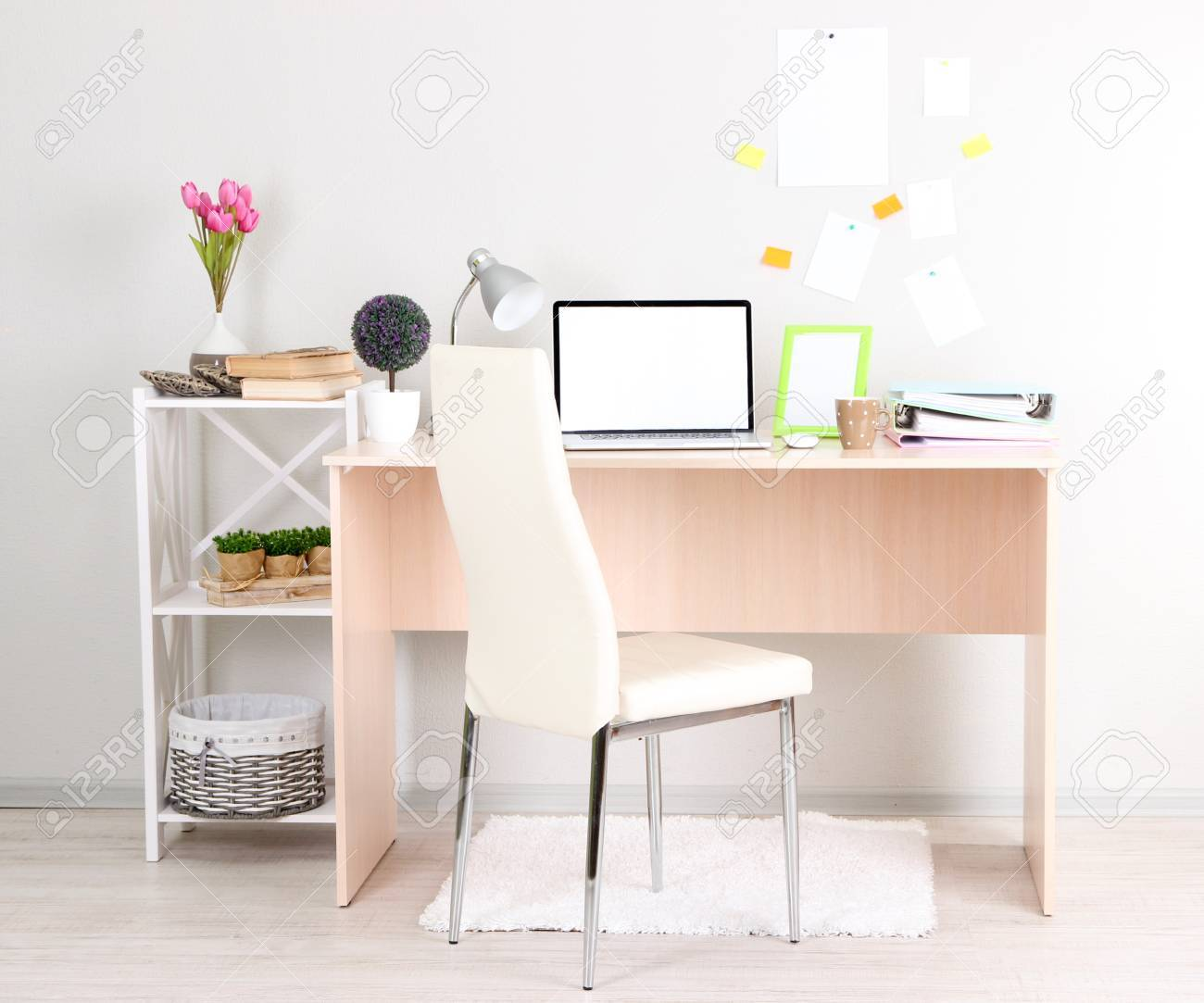 Workplace at home with laptop, close up Stock Photo - 24323571