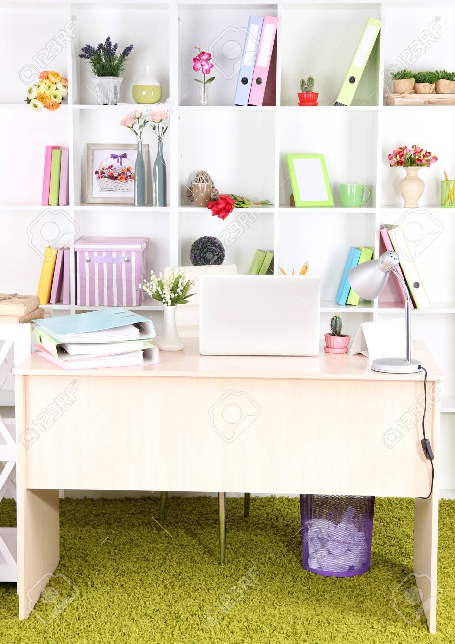 Workplace with laptop, close up Stock Photo - 25335036