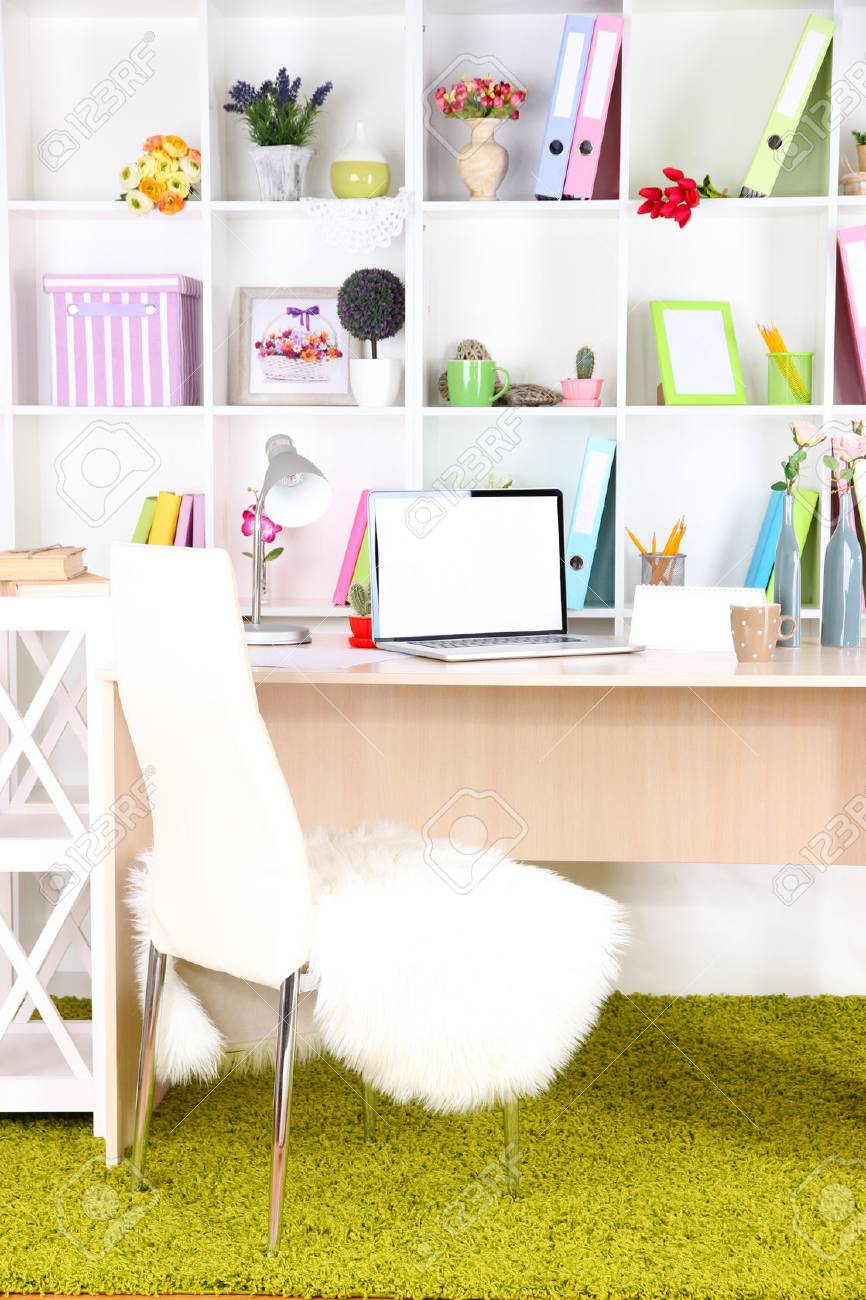 Workplace with laptop, close up Stock Photo - 25335117