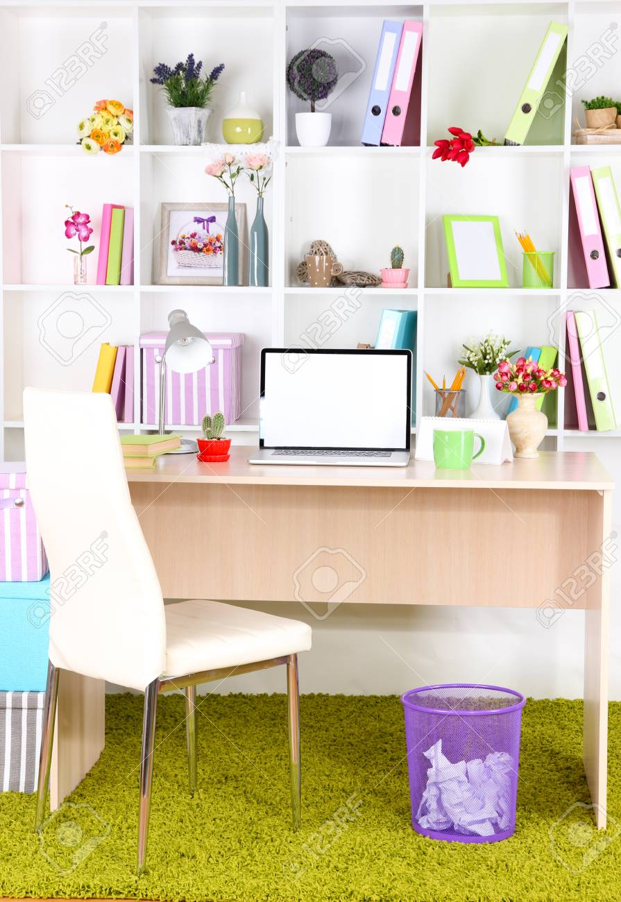Workplace with laptop, close up Stock Photo - 25586603