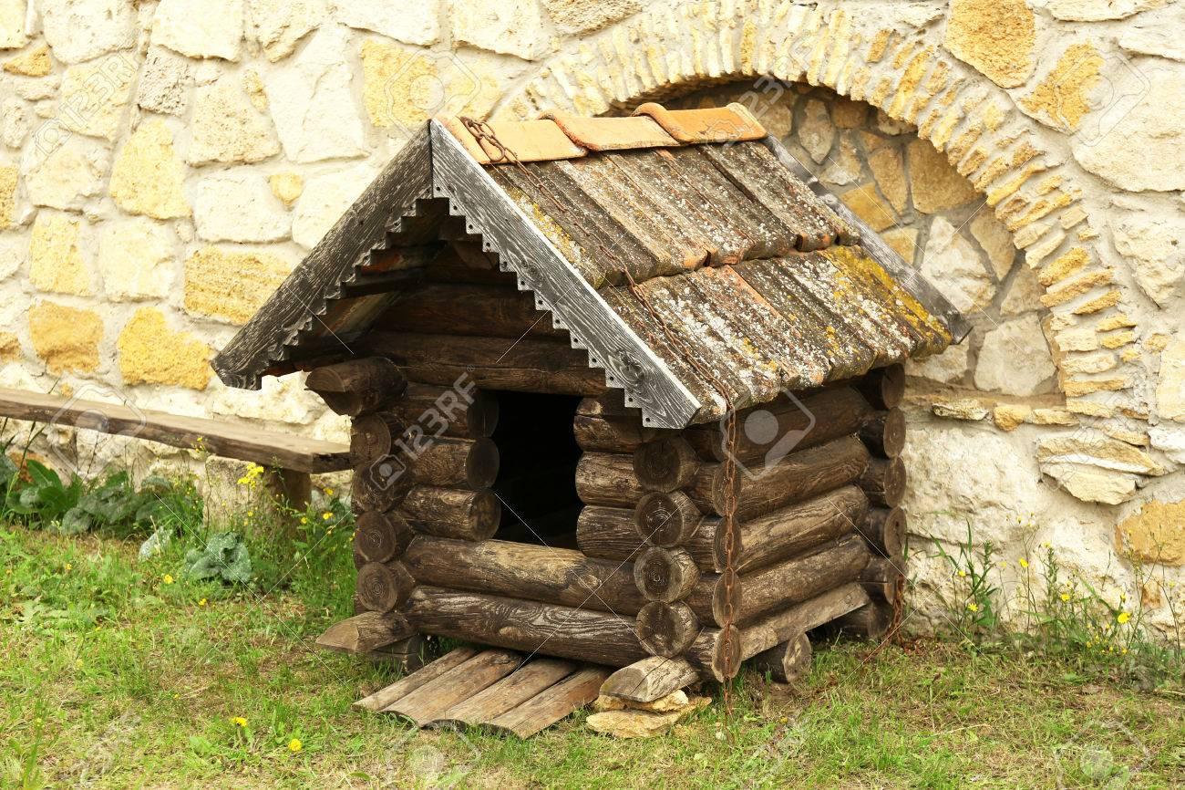 Traditionelle vintage antik Holz dovecote
