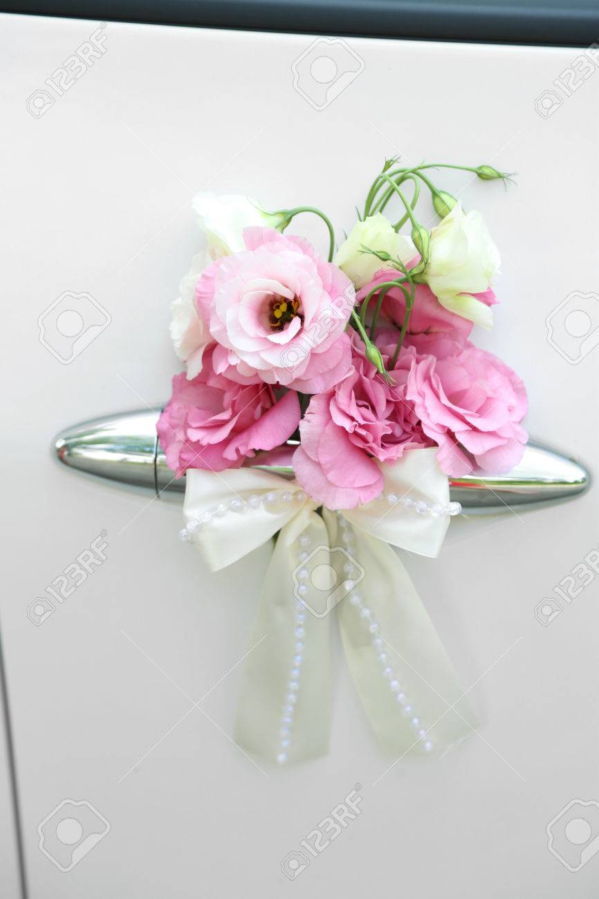 Wedding Car Decorated With Flowers Stock Photo, Picture And Royalty ...