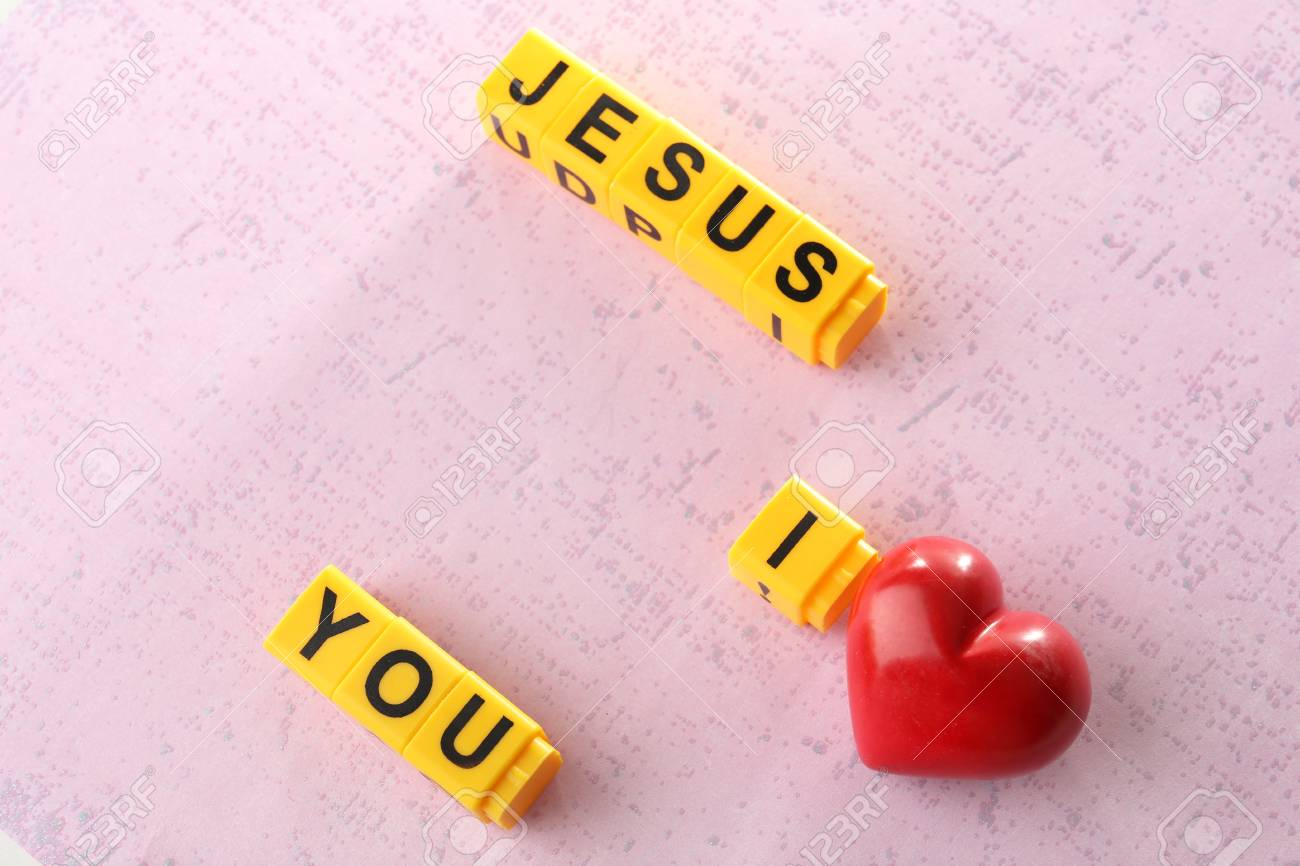 I LOVE JESUS Sign Illustrated With Colorful Plastic Letters On ...