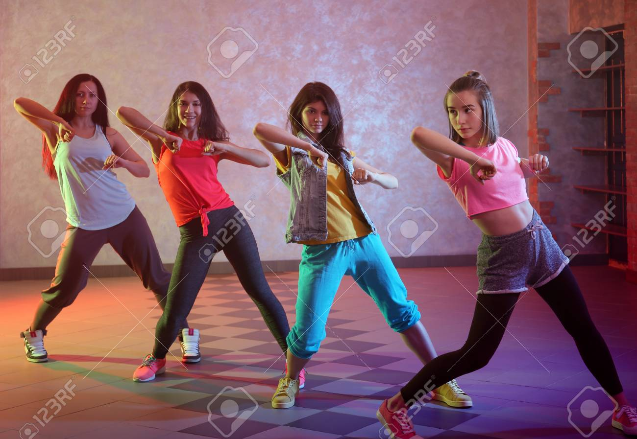 Group Of Young Hip Hop Dancers In Studio Stock Photo Picture And Royalty Free Image Image 110018575