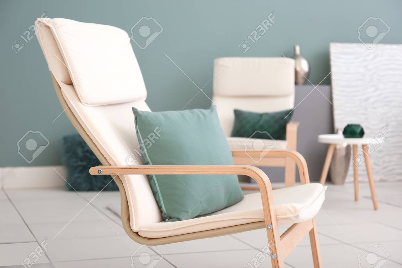 Comfortable armchair in modern living room stock photo 112590900