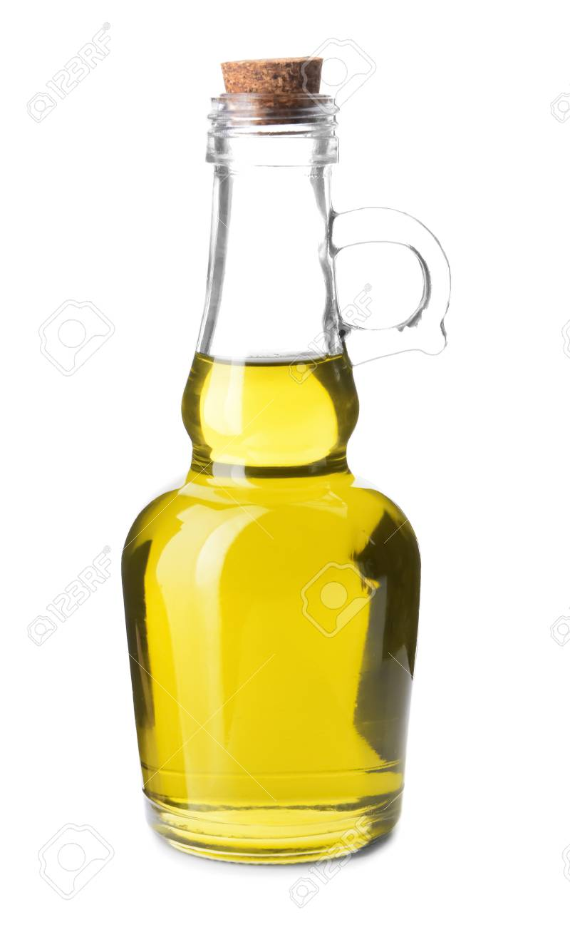 Bottle With Olive Oil On White Background