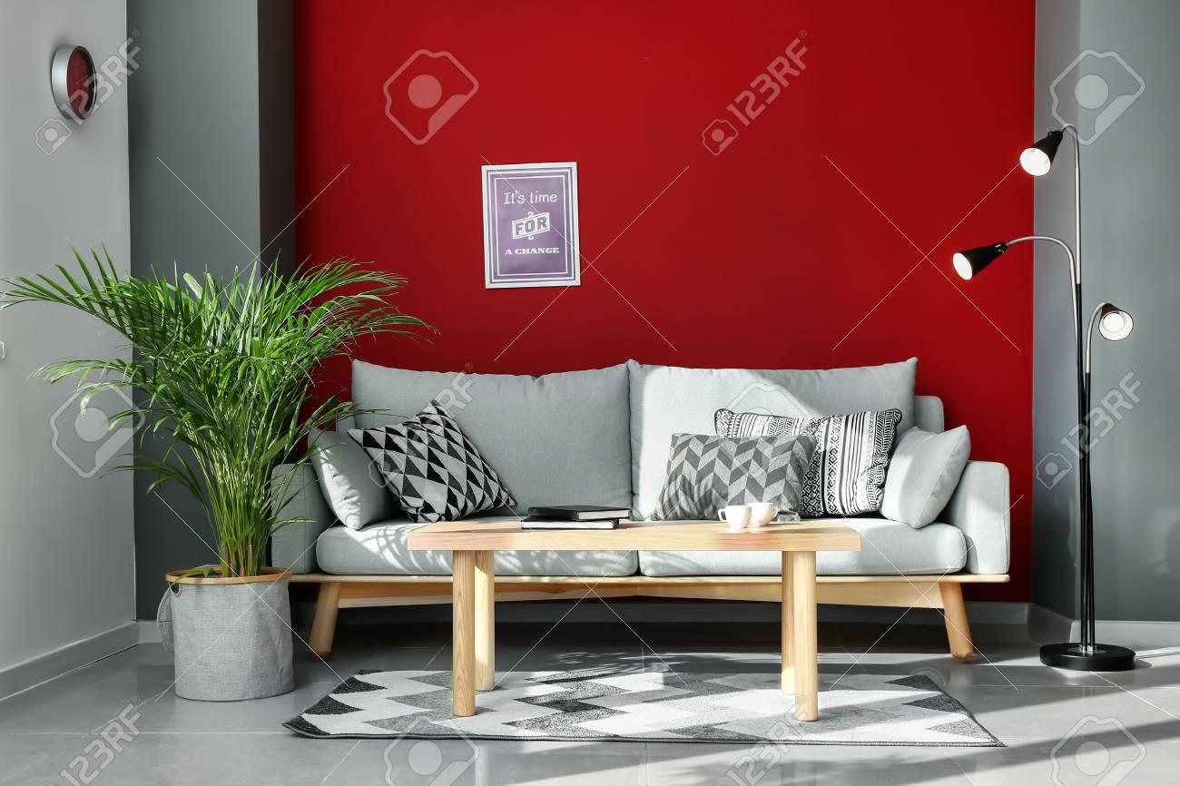 Decorative Areca palm in interior of room - 115740828