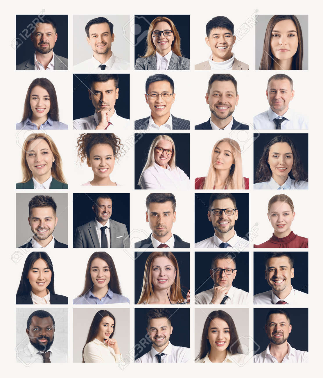 Collage of different business people - 166282302