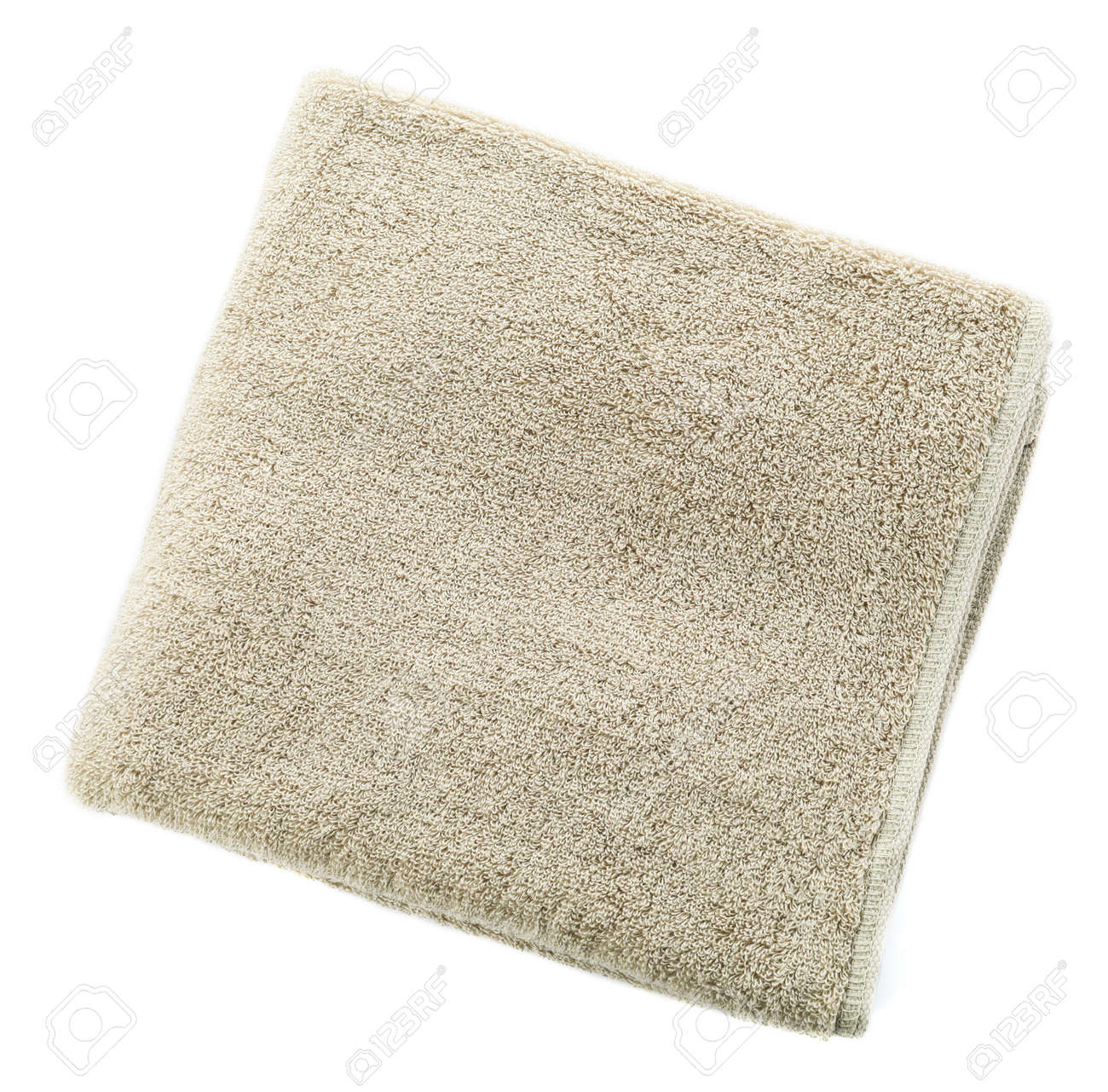Soft clean towel on white background - 165732608
