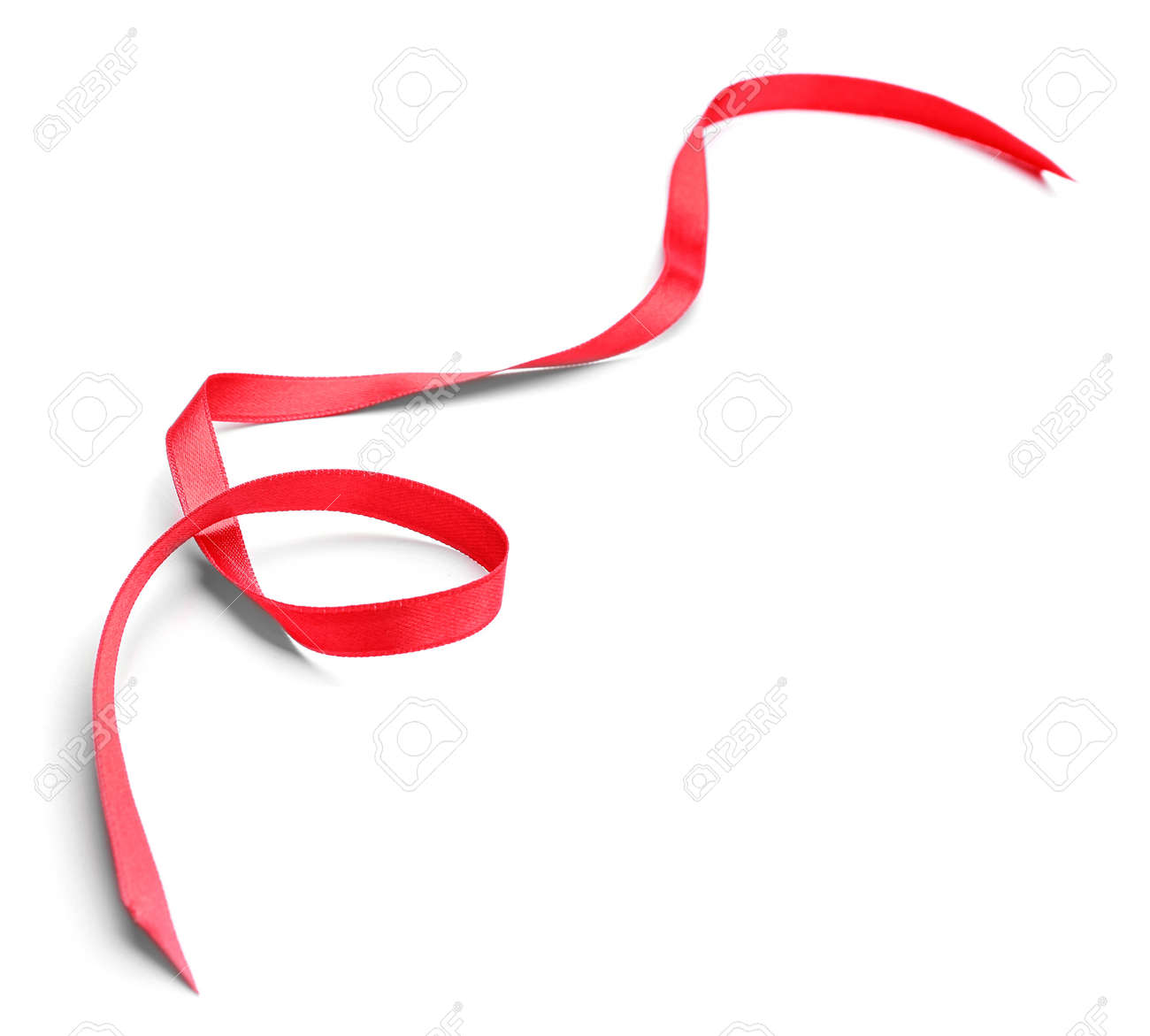 Beautiful red ribbon on white background - 165759002