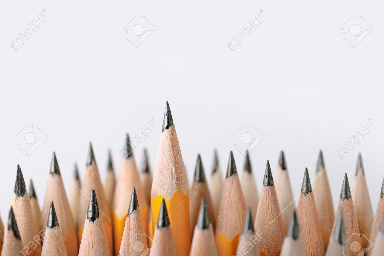 Many pencils on light background - 166295803