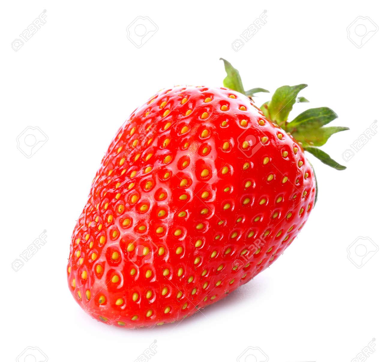 Sweet ripe strawberry on white background - 166690637