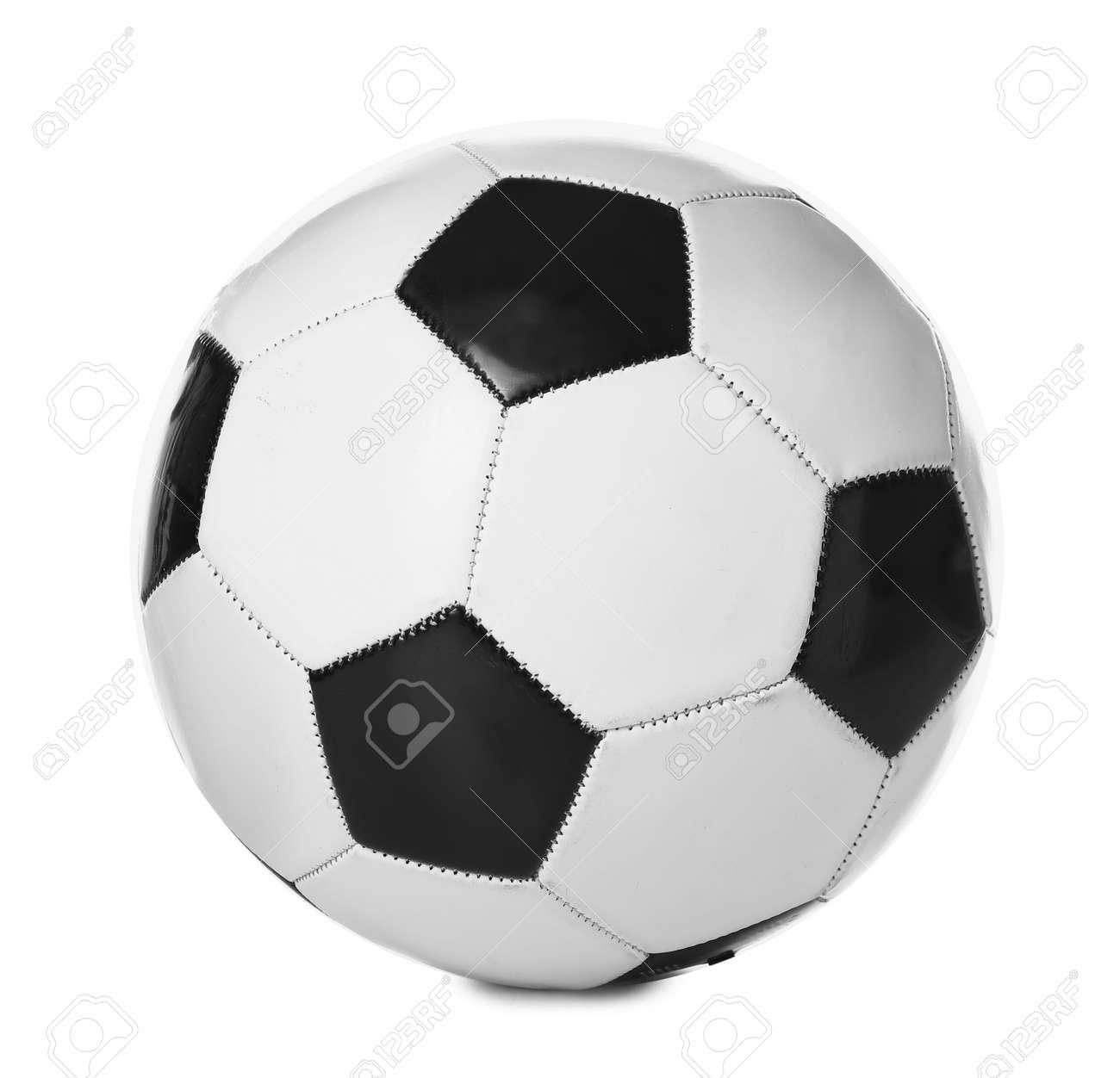 Soccer ball on white background - 169048986