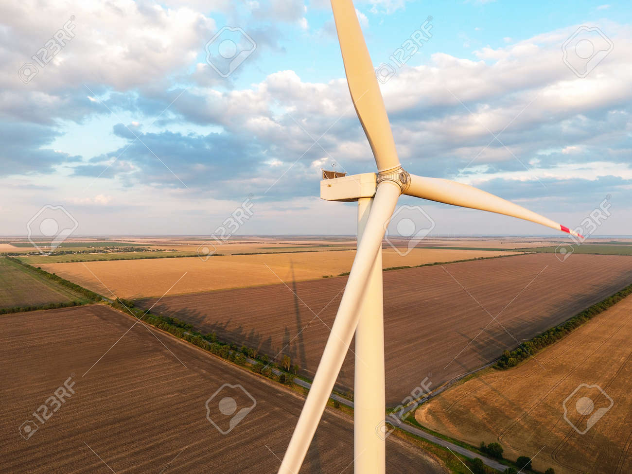 Windmill for electric power in countryside - 169790602