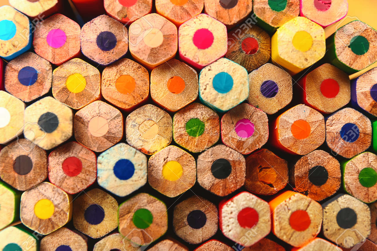 Set of colorful pencils as background - 169893735