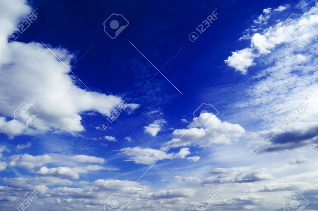 The clouds on background blue sky. Stock Photo - 847359