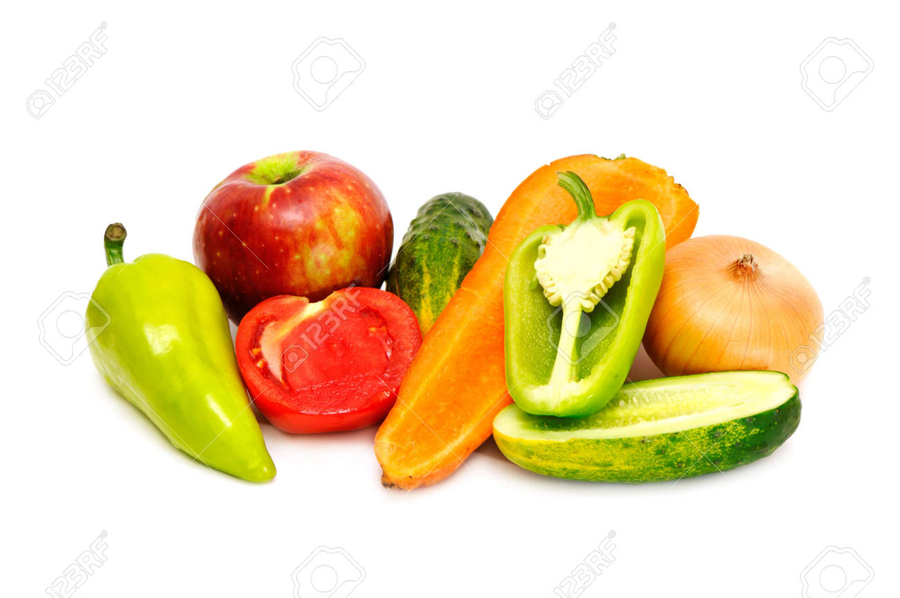vegetables isolated on a white background Stock Photo - 3571517