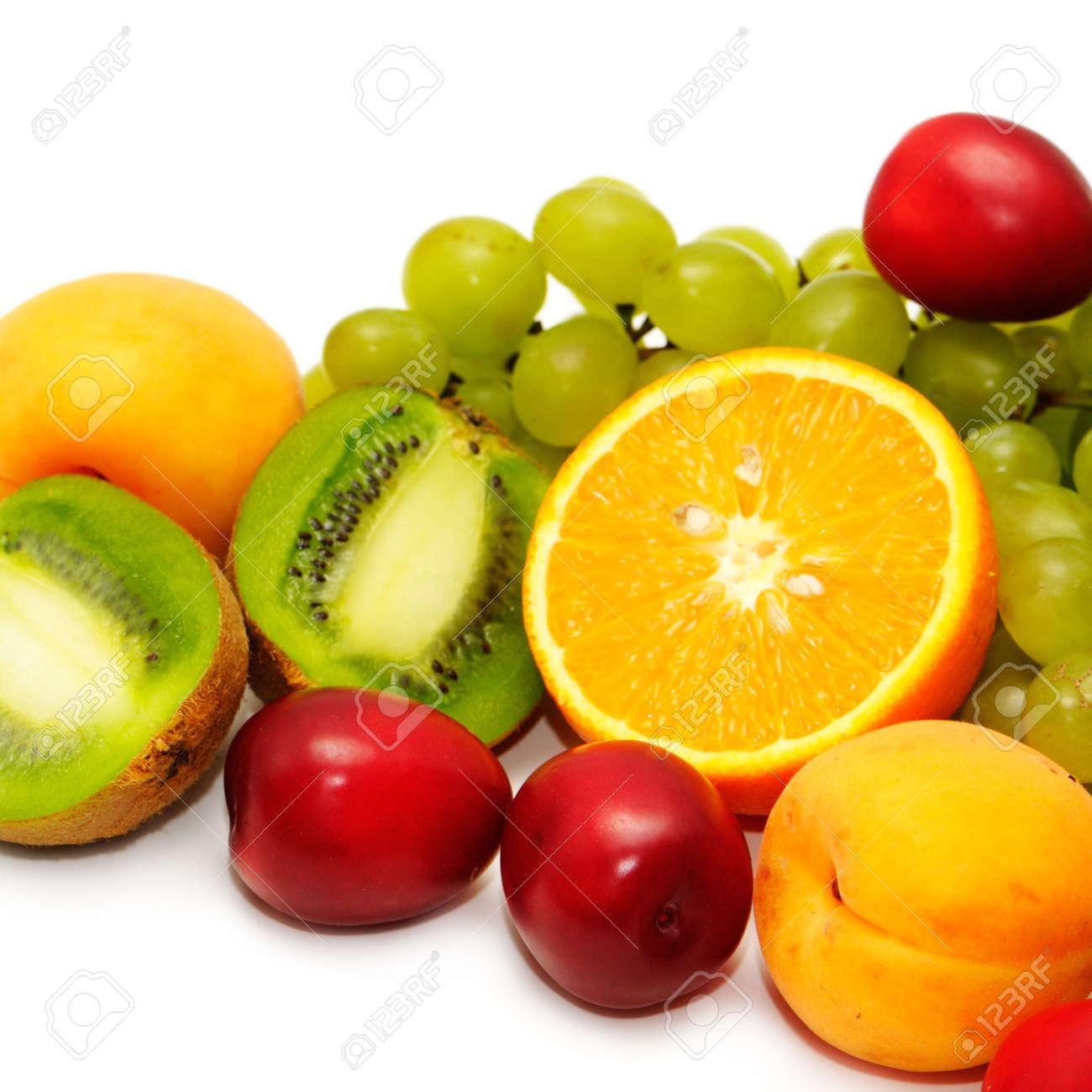 Fresh fruit isolated on a white background Stock Photo - 3935701