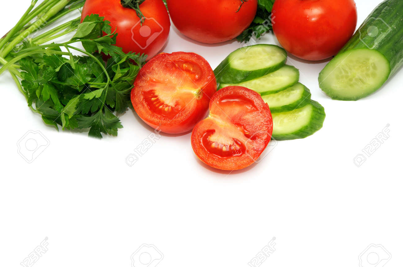 vegetables isolated on a white background Stock Photo - 4169209