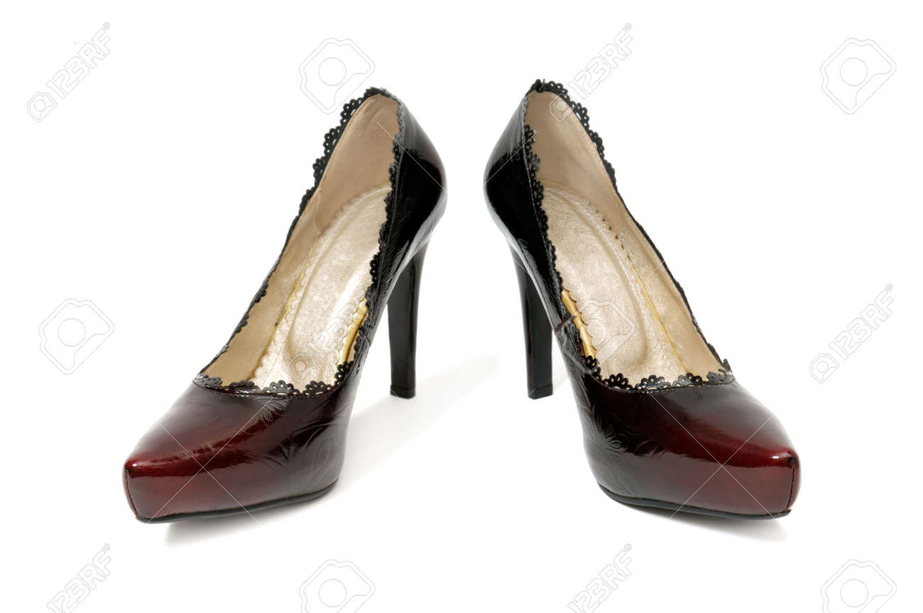 shoes on a white background Stock Photo - 4576886