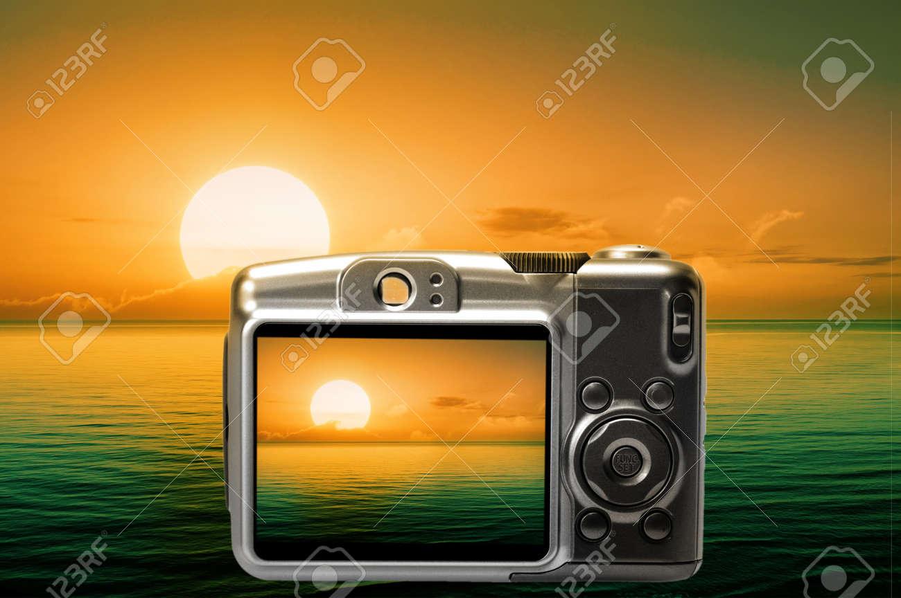 Beautiful sunset on skreen camera Stock Photo - 6968523