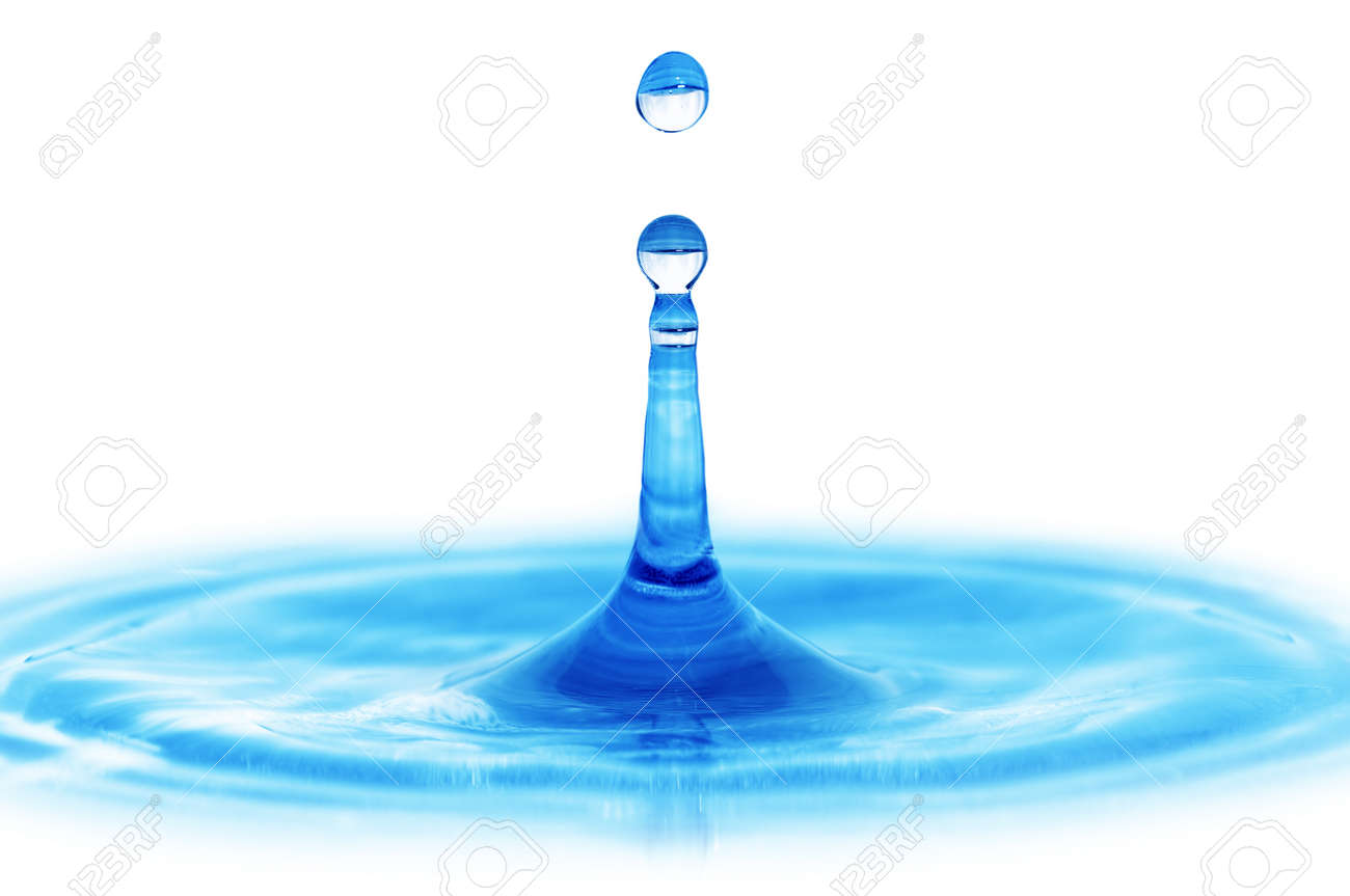 splash water isolated on a white background Stock Photo - 8052593
