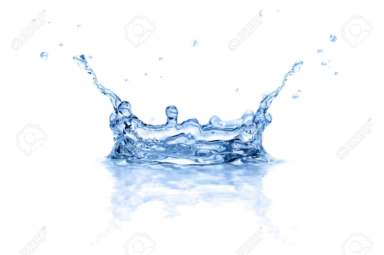 splash water isolated on a white background Stock Photo - 8110848