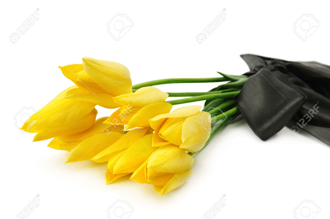 Bouquet of yellow flowers for a funeral isolated on a white bouquet of yellow flowers for a funeral isolated on a white background stock photo 9566548 izmirmasajfo Images