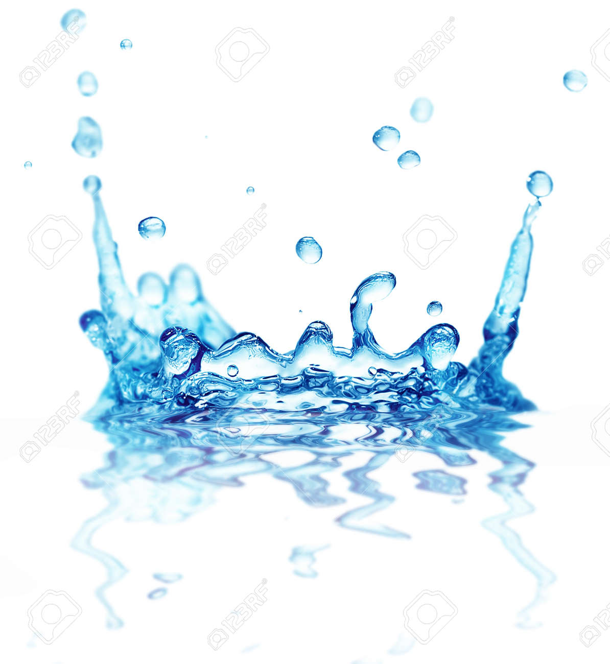 splash water isolated on a white background Stock Photo - 9568277