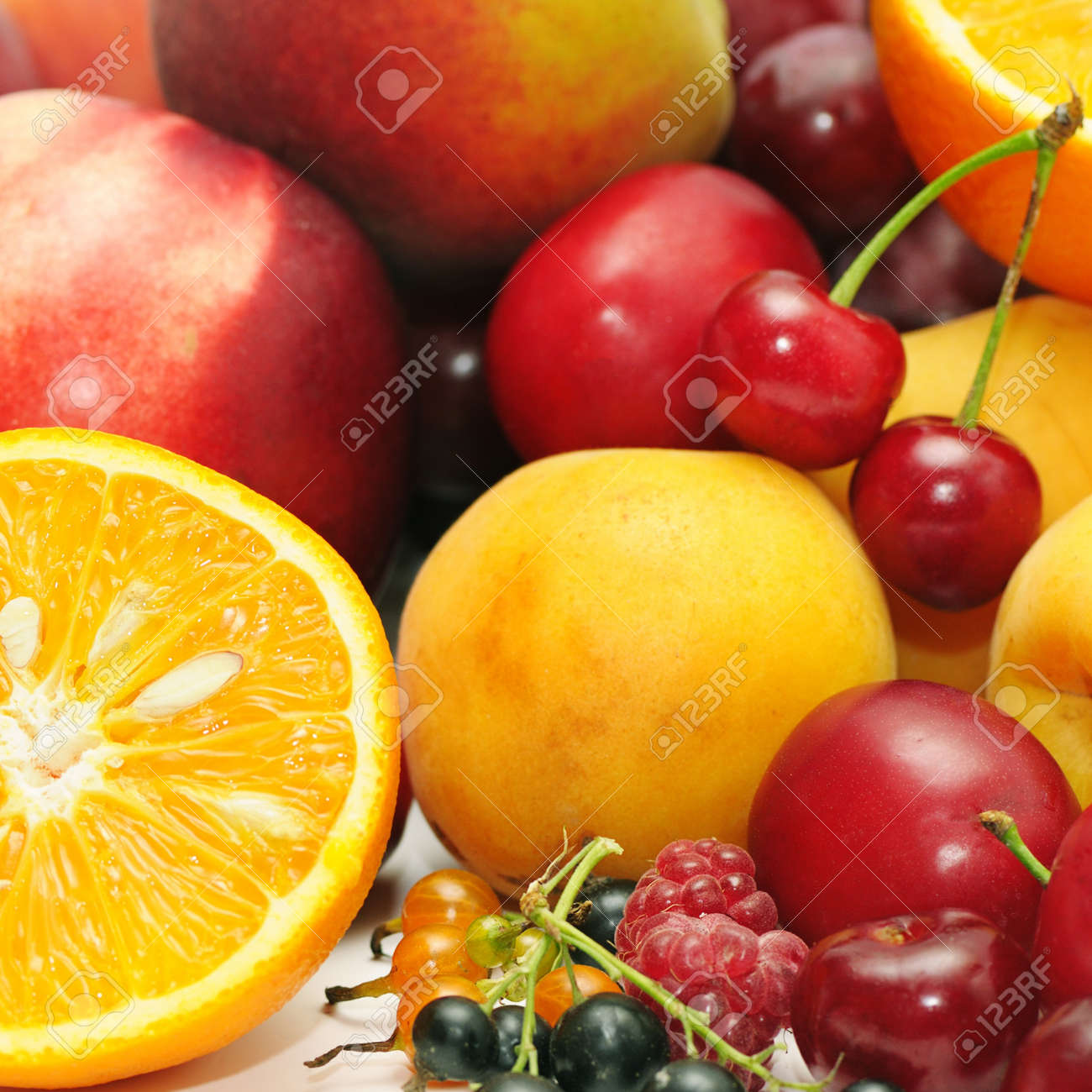 fruits on a white background Stock Photo - 10294361