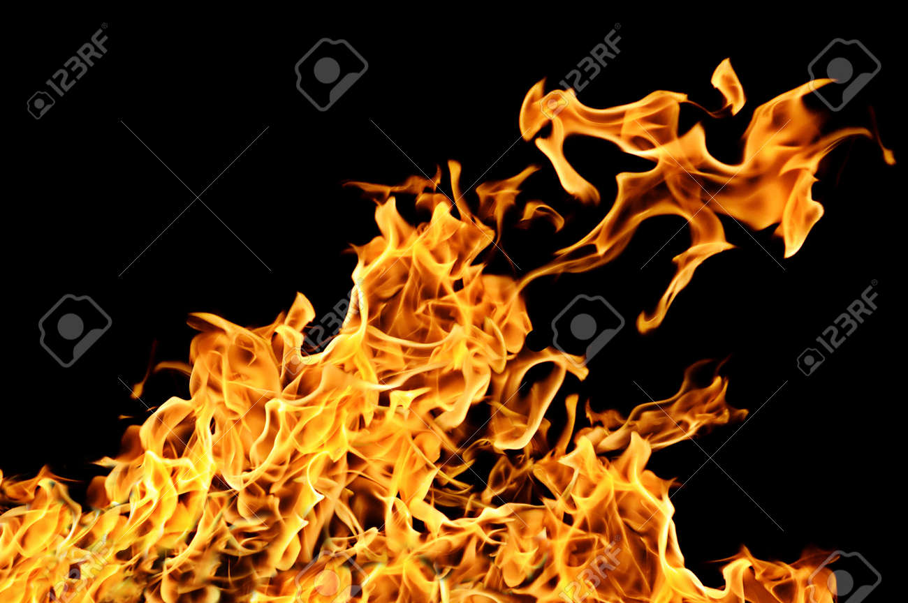 fire on a black background Stock Photo - 10349433