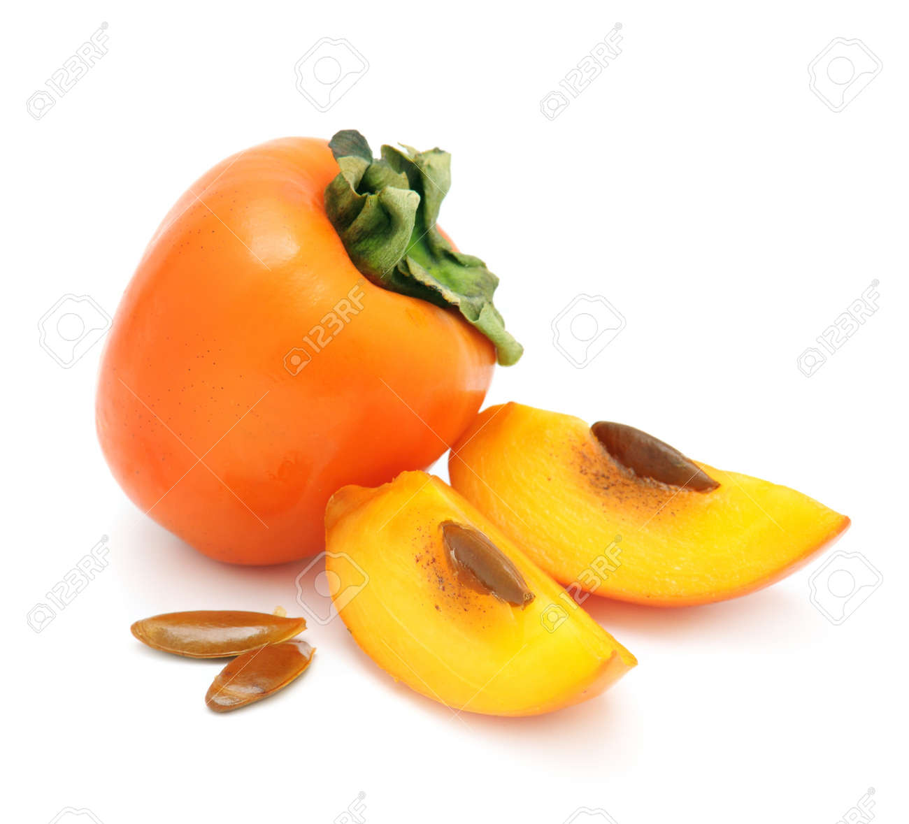 persimmon isolated on a white background - 12067665