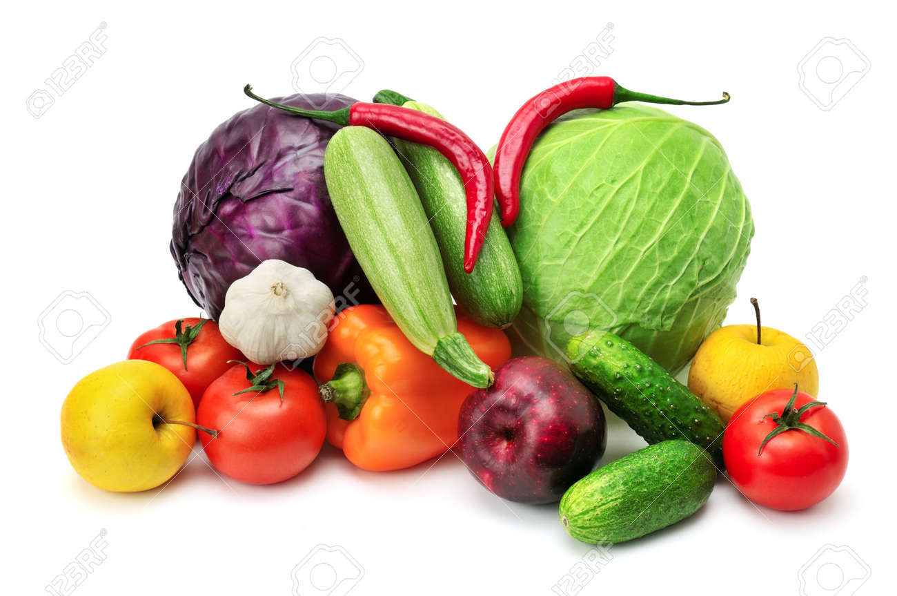 fruits and vegetables isolated on a white background Stock Photo - 12067708