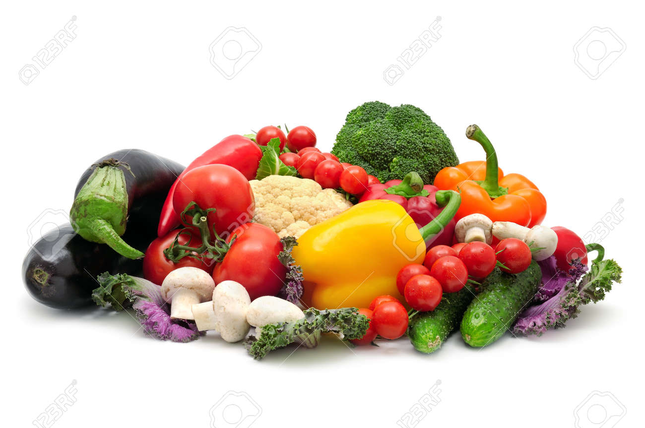 collection vegetables isolated on a white background - 13516508