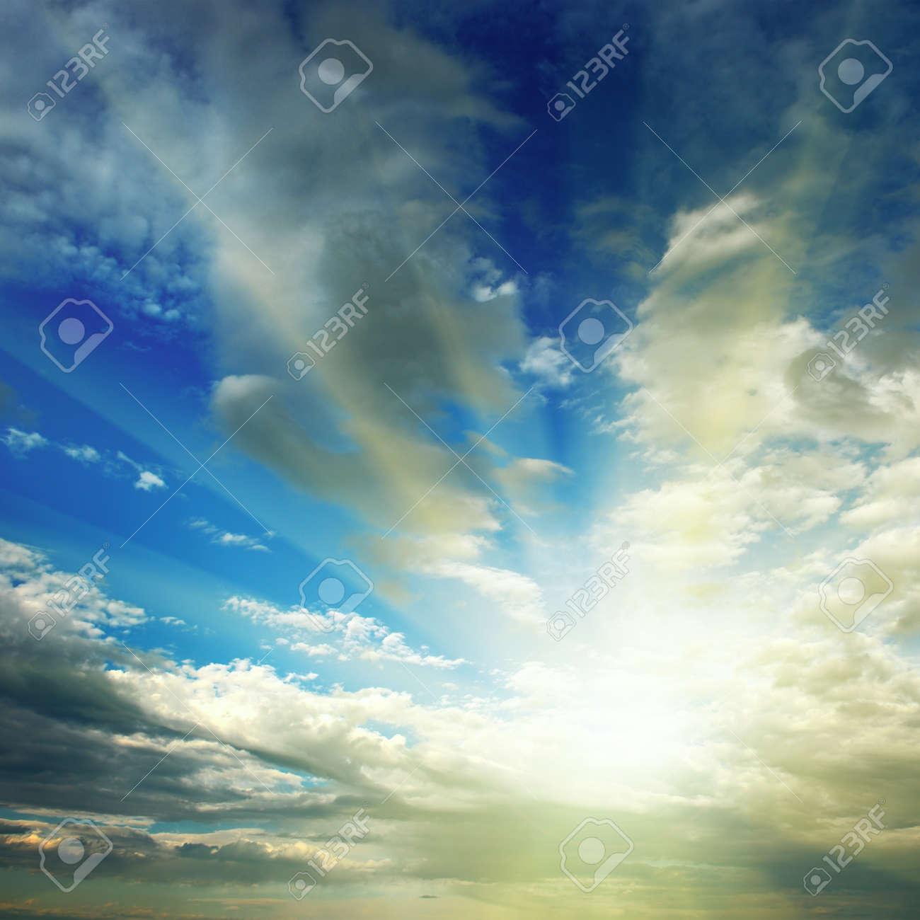 sun on blue sky - 14809962