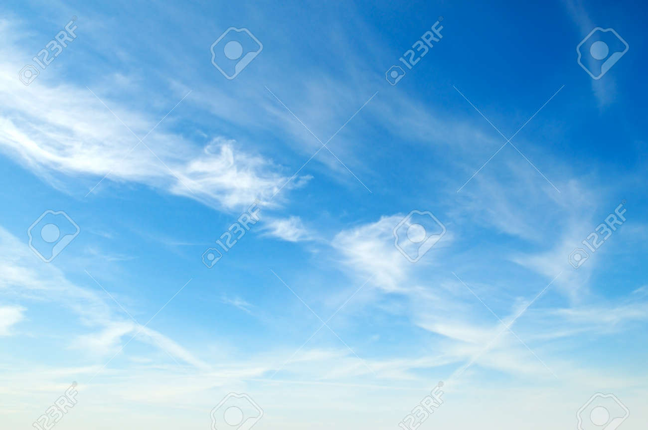 white fluffy clouds in the blue sky Stock Photo - 15881747