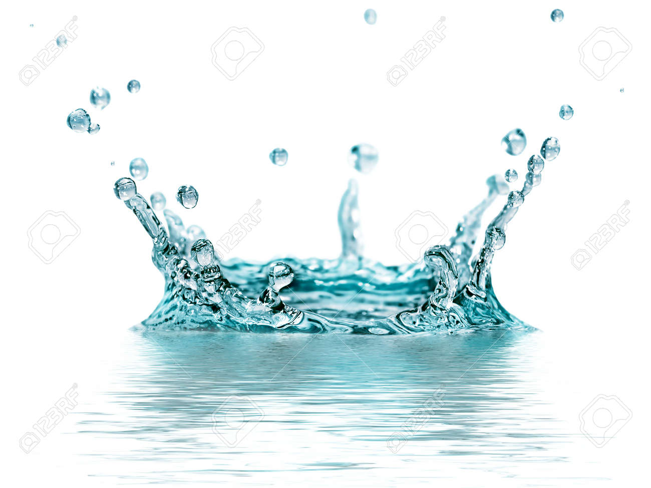 splash water isolated on a white background - 17284931