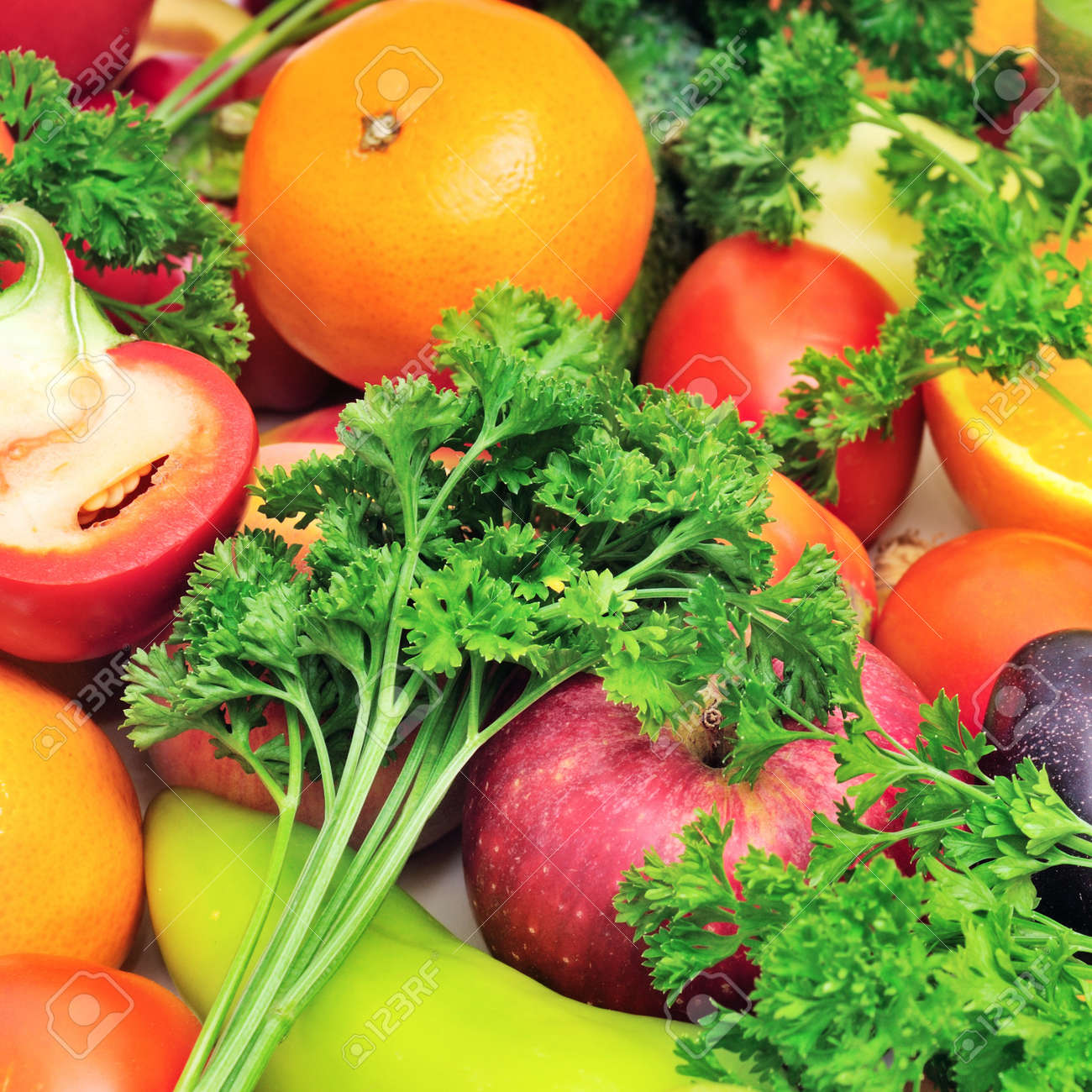 fruits and vegetables background Stock Photo - 18520244