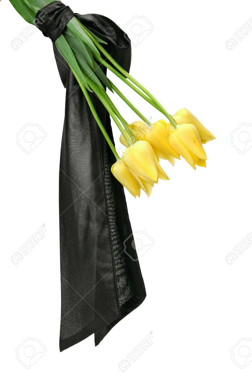 Bouquet of yellow flowers for a funeral isolated on a white bouquet of yellow flowers for a funeral isolated on a white background stock photo 31393186 izmirmasajfo Images