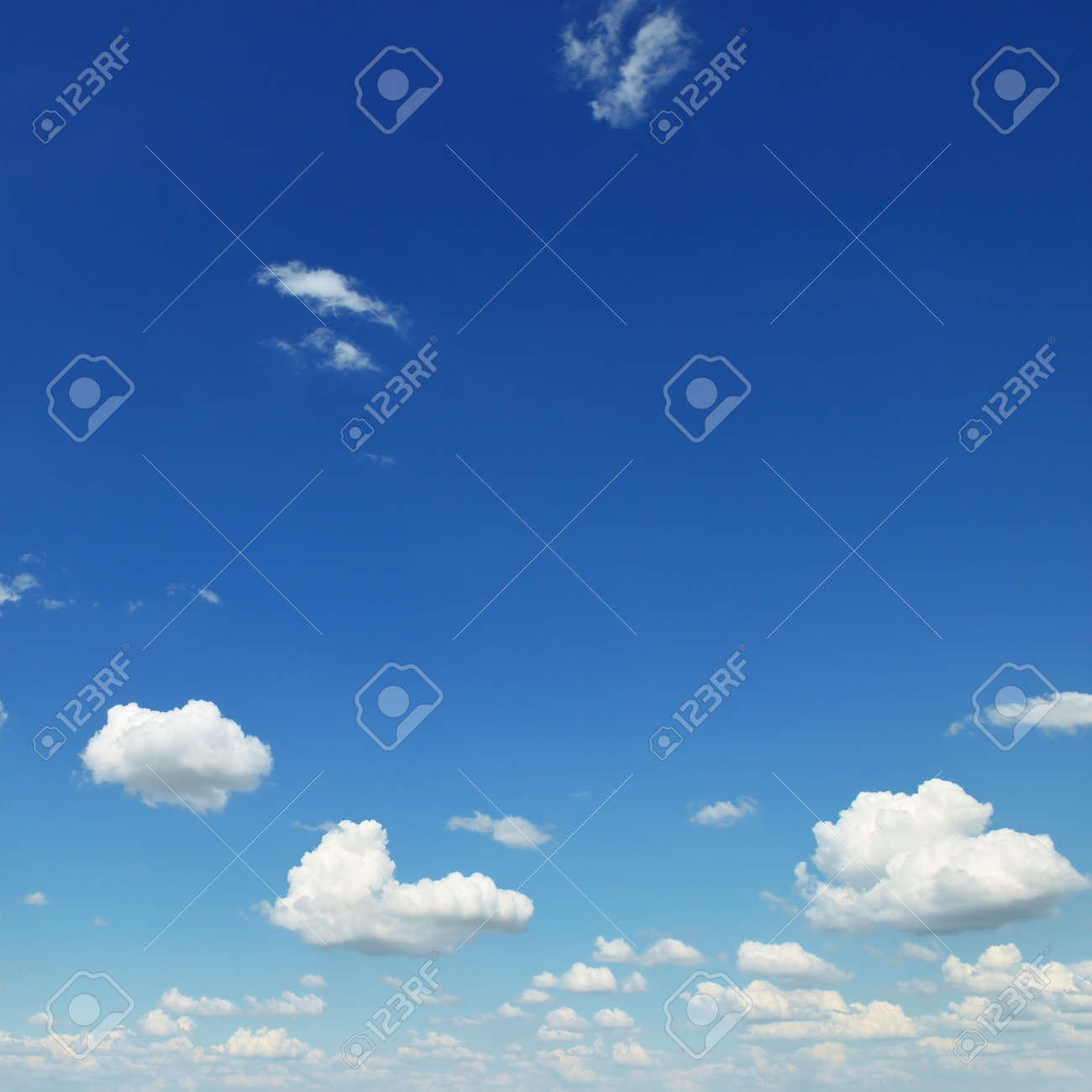small white clouds on sky background - 34429754