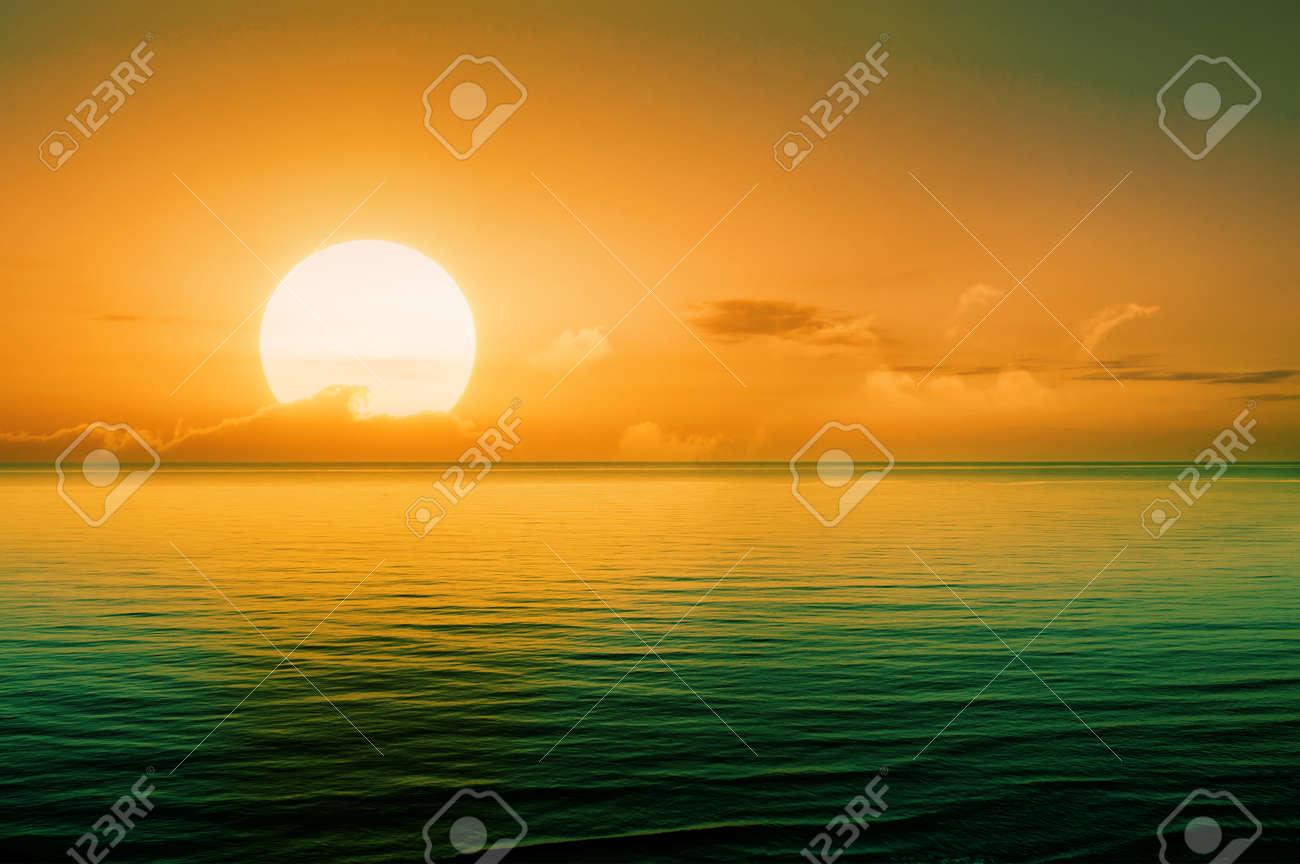 Beautiful sunset above the sea - 36307349