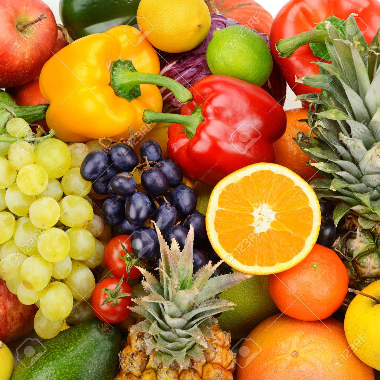 collection fresh fruits and vegetables - 37386710