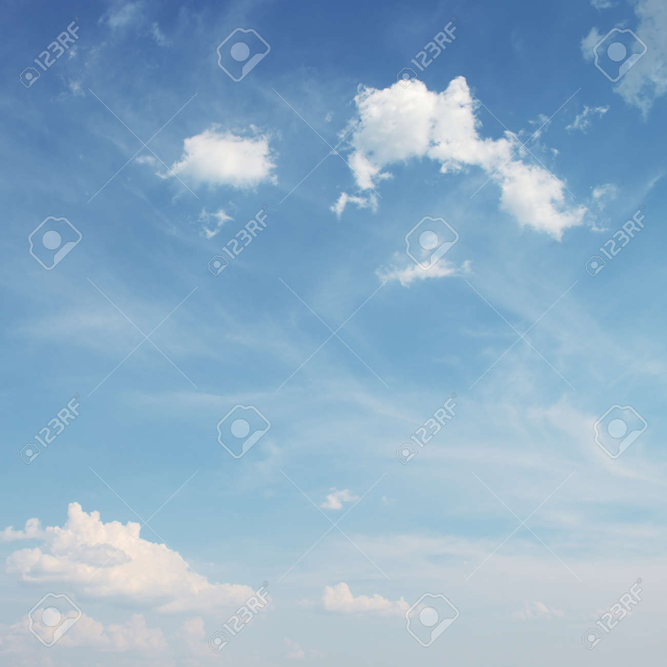 Blue sky with white clouds background - 37918478
