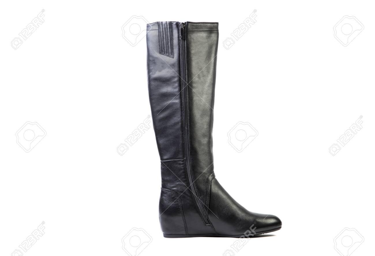 quite nice retail prices exclusive shoes Spring leather boots on a white background, women's Italian leather..