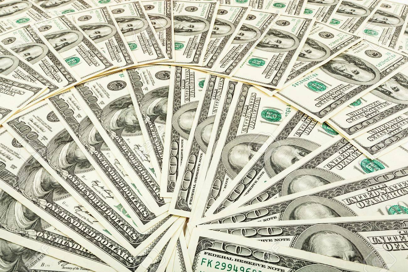 紙のお金と dolar モニターにスクリーン セーバーの紙幣の背景