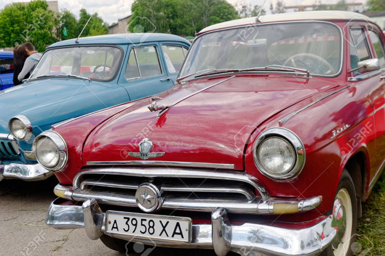 Kharkiv, Ukraine - May 22, 2016: Soviet Retro Car Cherry-blossom ...