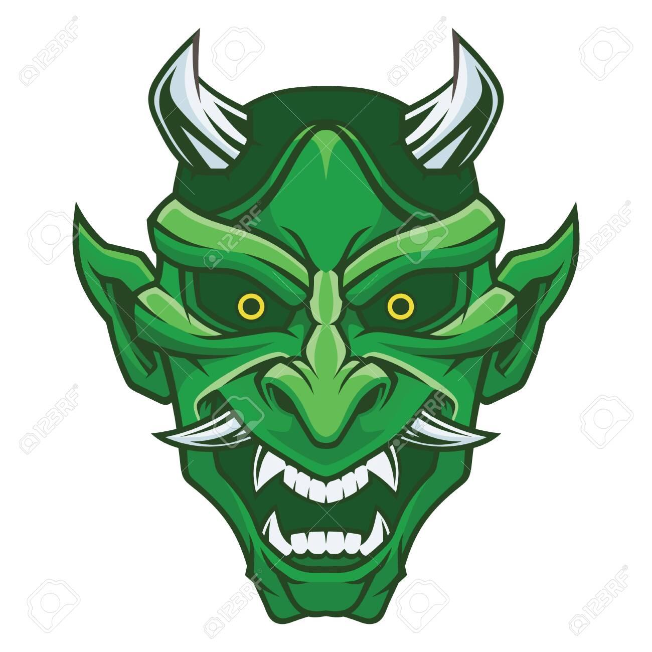 Mask of hannya. Demon mask. - 130422798